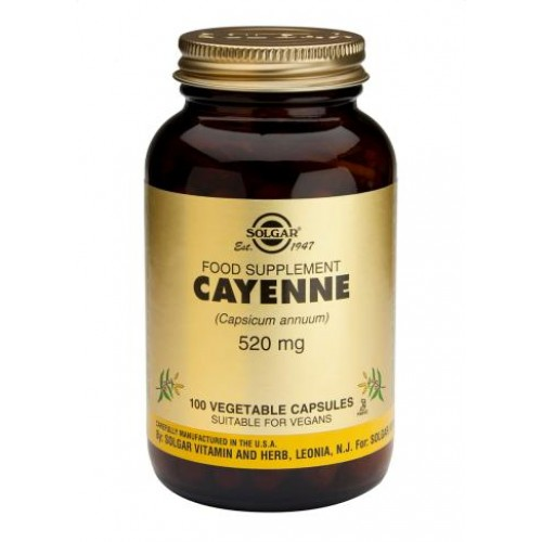 Cayenne Vegetable  520mg Capsules