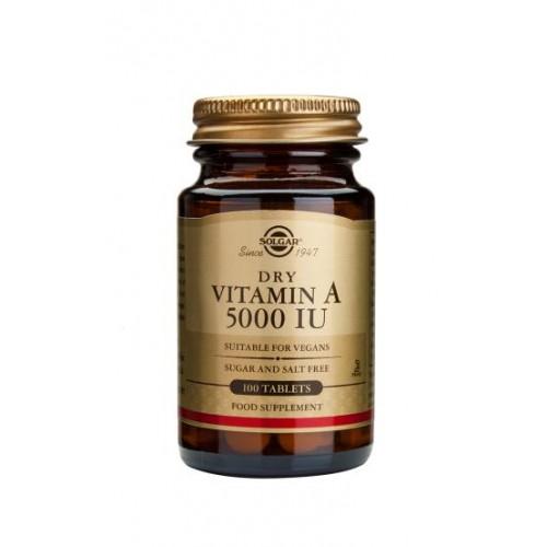 Dry Vitamin A 5000 IU Tablets