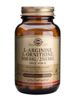 L-Arginine L-Ornithine 500 mg / 250 mg Vegetable Capsules