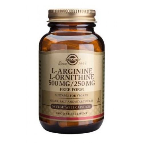 L-Arginine L-Ornithine 500 mg / 250 mg Vegetable Capsules