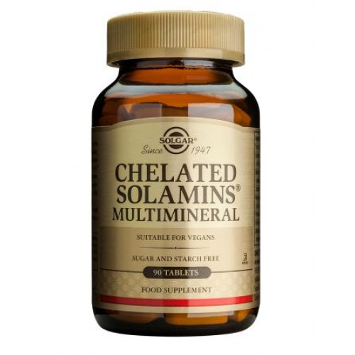 Chelated Solamins(R) Multimineral Tablets