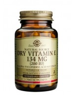 Dry Vitamin E 134 mg (200 IU) Vegetable Capsules