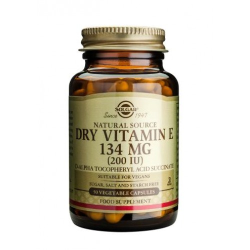 Dry Vitamin E 134 mg (200 IU) Vegetable Capsules