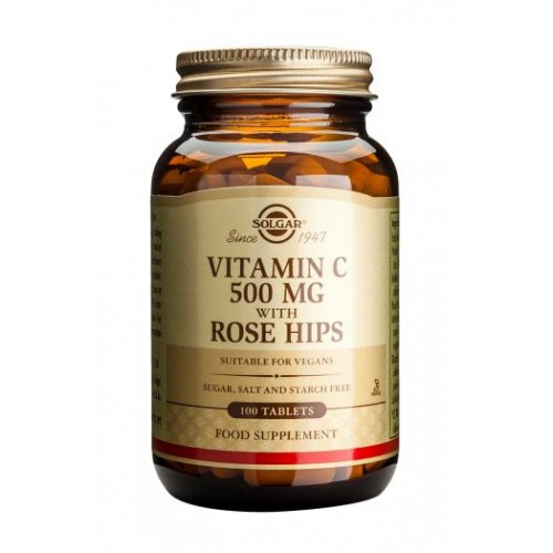 Vitamin C 500 mg with Rose Hips Tablets