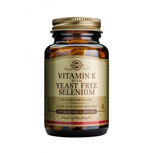 Vitamin E with Yeast Free Selenium Vegetable Capsules