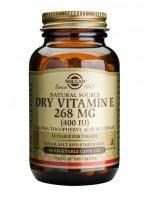 Dry Vitamin E 268 mg (400 IU) Vegetable Capsules