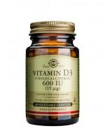 Vitamin D3 600 IU (15 µg) Vegetable Capsules